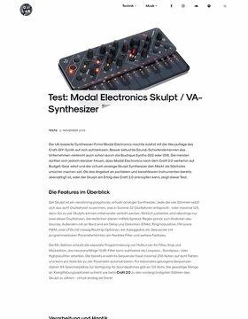 Modal Electronics Skulpt / VA-Synthesizer