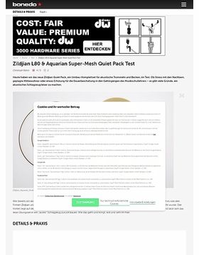 Zildjian L80 & Aquarian Super-Mesh Quiet Pack