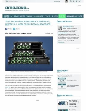 Sound Devices MixPre-6 II, MixPre-3 II und MixPre-10 II