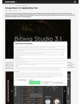 Bitwig Studio 3.1 Update Beta
