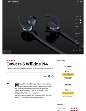 Bowers & Wilkins PI 4 BK