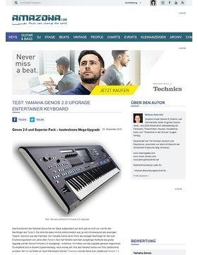 Yamaha GENOS Firmware 2.0 Upgrade