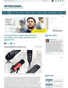 Vergleichstest: USB-Mikrofone von IK Multimedia, the t.bone, Marantz & Fun Generation