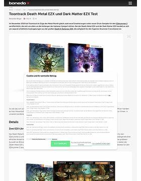 Toontrack Death Metal EZX und Dark Matter EZX