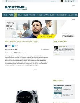 Test: American Audio TTD-2400/USB