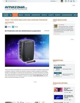the box MBA120W MKII akkubetriebene Aktivbox