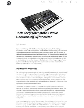 Korg Wavestate / Wave Sequencing Synthesizer