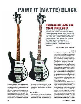 Rickenbacker 4003 und 4003S Matte Black