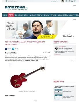 Test: Epiphone, Allen Woody Rumblekat Bass, E-Bass