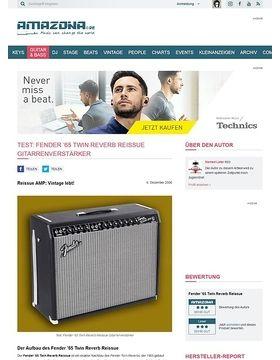 Test: Fender '65 Twin Reverb Reissue, Verstärker für E-Gitarre