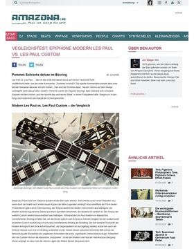 Vegleichstest: Epiphone Modern Les Paul vs. Les Paul Custom