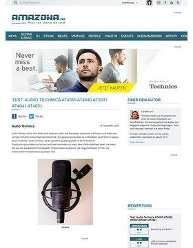 Test: Audio Technica AT4050 AT4040 AT3031 AT4041 AT4051