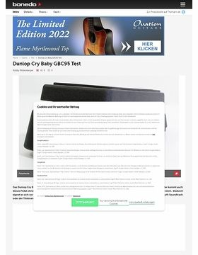 Dunlop Cry Baby GBC95