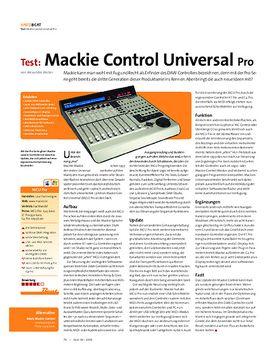 Test: Mackie Control Universal Pro