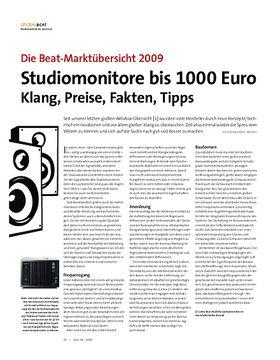 Studiomonitore bis 1000 Euro Klang, Preise, Fakten, Tipps