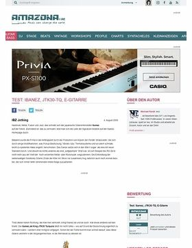 Test: Ibanez, JTK30-TQ, E-Gitarre