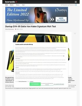 Dunlop EVH-95 Eddie Van Halen Signature Wah