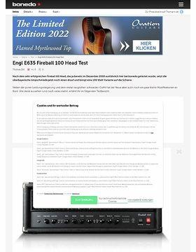 Engl E635 Fireball 100 Head
