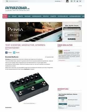 Test: Eventide, ModFactor, Gitarren-Effektgerät