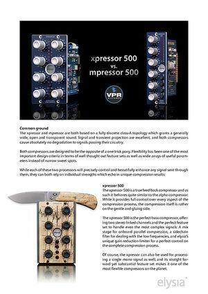 Produktvergleich Xpressor 500 und mpressor 500 (En)