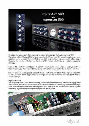Comparison chart mpressor rack vs mpressor 500