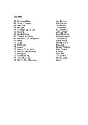Inhaltsverzeichnis Pop Hits