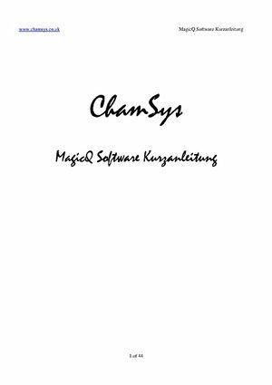 Schnelleinstieg Software