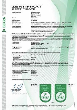 Dekra Certificate