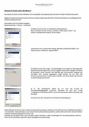 Hilfe bei Windows 7 Rauschen