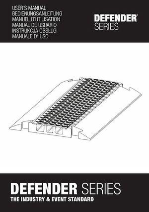 Adam Hall 85150 Defender Nano Kabelbrücke schwarz – Musikhaus Thomann