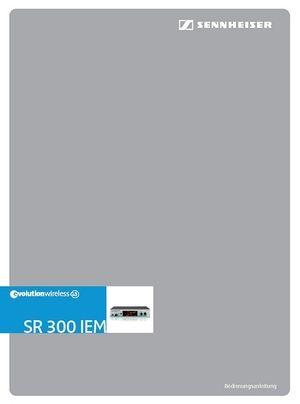 Bedienungsanleitung: SR 300