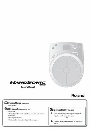roland hpd 20 handsonic pad thomann uk