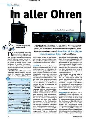 Test: Shure PSM 200 - In aller Ohren