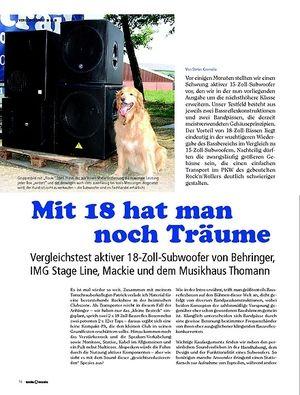 Testbericht im Magazin: tools for music