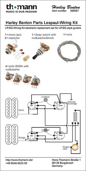 Harley Benton Parts SC-Wiring Kit – Thomann United States