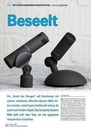 Professional Audio Beseelt: Sennheiser MKH 8000