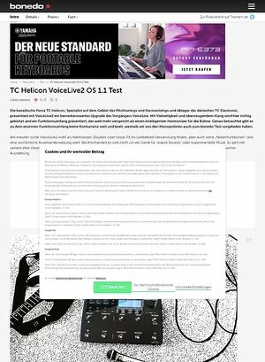 Bonedo.de TC Helicon VoiceLive 2