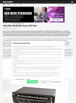 Bonedo.de Gallien-Krueger Fusion 550
