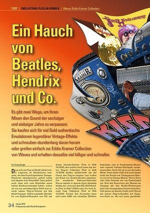 Professional Audio Ein Hauch von Beatles, Hendrix und Co.: Waves Eddie Kramer Collection