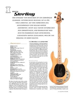 Gitarre & Bass Sterling Ray34, E-Bass