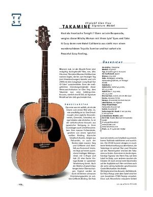 Gitarre & Bass Takamine EF360GF Glen Frey Signature Model, A-Gitarre