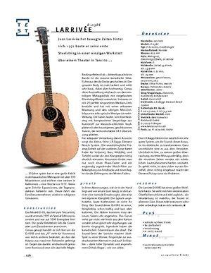 Gitarre & Bass Larrivée D-03RE, Akustik-Gitarre