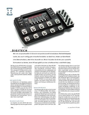 Gitarre & Bass DigiTech RP1000, Multieffekt & Ampmodeler