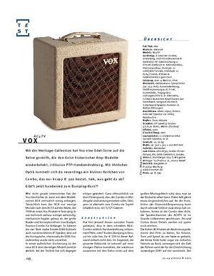 Gitarre & Bass Vox AC4TV, Röhren-Combo