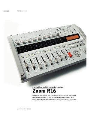 Sound & Recording Zoom R16