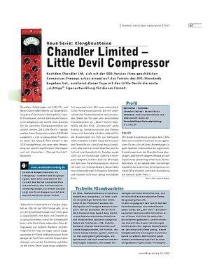 Sound & Recording Chandler Limited - Little Devil Compressor