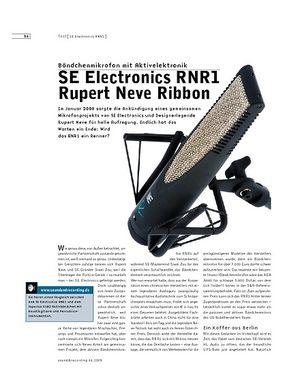 Sound & Recording SE Electronics RNR1 Rupert Neve Ribbon