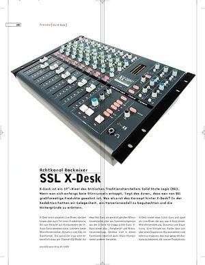 Sound & Recording Preview: SSL X-Desk