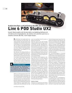 Sound & Recording Line 6 POD Studio UX2