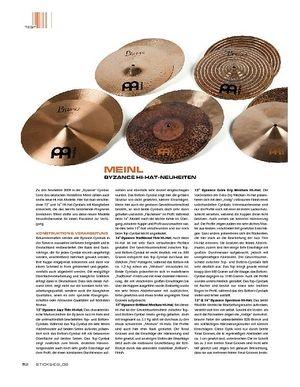 Sticks Meinl Byzance Hi-Hats Neuheiten 2009